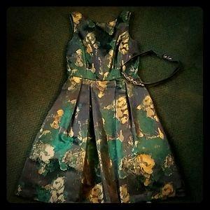 Eliza J Green Gold Metallic Formal Dress